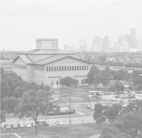 Black and White Elevated View of University of Houston Campus