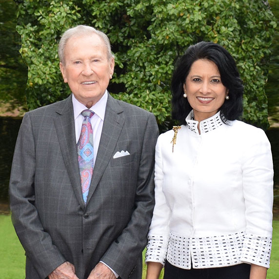 fred haas and uh president renu khator